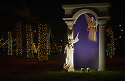 Lighted statues at the Way of Lights holiday light display at the National Shrine of Our Lady of the Snows in Belleville on December 3, 2019. This is the 50th anniversary of the annual light display, which runs from 5 pm to 9 pm through December 31.<br />Photo by Tim Vizer