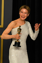 February 9, 2020, Los Angeles, California, USA: RENEE ZELLWEGER in the Press Room during the 92nd Academy Awards, presented by the Academy of Motion Picture Arts and Sciences (AMPAS), at the Dolby Theatre in Hollywood. (Credit Image: © Kevin Sullivan via ZUMA Wire)