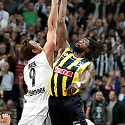 Fenerbahce's James GIST (R) during their BEKO Basketball League match Besiktas between Fenerbahce at the Sinan Erdem Arena in Istanbul at Turkey on Sunday, November, 06, 2011. Photo by TURKPIX