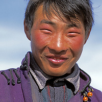 MONGOLIA, Darhad Valley. Young herder.
