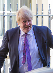 Downing Street, London, April 25th 2017. Foreign and Commonwealth Secretary Boris Johnson leaves the weekly cabinet meeting at 10 Downing Street in London. Credit: ©Paul Davey