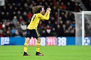 Matteo Guendouzi (29) of Arsenal shows his frustration at a decision against him during the The FA Cup match between Bournemouth and Arsenal at the Vitality Stadium, Bournemouth, England on 27 January 2020.