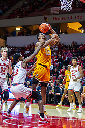 NORMAL, IL - February 15: Mileek McMillan tries to get off a shot while being fouled by Antonio Reeves during a college basketball game between the ISU Redbirds and the Valparaiso Crusaders on February 15 2020 at Redbird Arena in Normal, IL. (Photo by Alan Look)