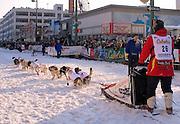 Alaska. Iditarod Anchorage Ceremonial Start from a musher's