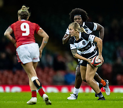 Ashlee Byrge of Barbarians<br /> <br /> Photographer Simon King/Replay Images<br /> <br /> Friendly - Wales v Barbarians - Saturday 30th November 2019 - Principality Stadium - Cardiff<br /> <br /> World Copyright © Replay Images . All rights reserved. info@replayimages.co.uk - http://replayimages.co.uk