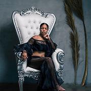 Studio fashion shoot with Los Angeles model, Annessa De La Cruz. Images made at FD Photo Studios Art 1 on July 12, 2018 in Downtown Los Angeles, California.  ©Michael Der