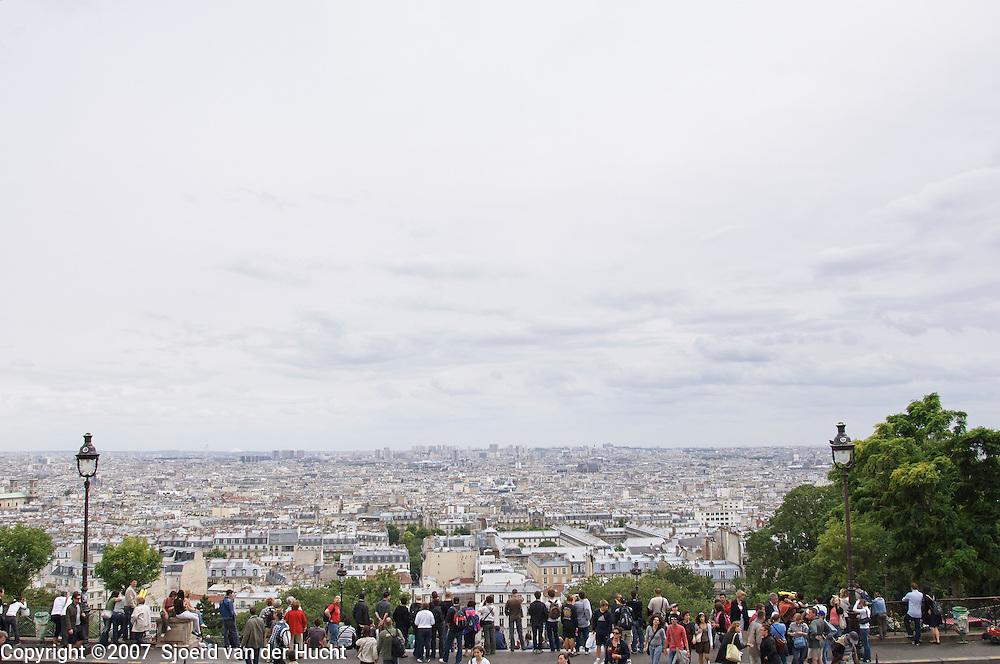 Around the Sacré Coeur in Montmartre, Paris, France