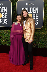 Serena McKinney and Golden Globe nominee Ludwig Goransson attends the 76th Annual Golden Globe Awards at the Beverly Hilton in Beverly Hills, CA on Sunday, January 6, 2019.
