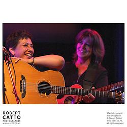 Mahinarangi Tocker performs with Shona Laing in the Ilott Concert Chamber at the Town Hall, Wellington New Zealand.
