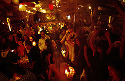 Party at Hua Hua Floating River Club with traditional, folk, turbofolk, etno music, on January 28, 2012 at Sava riverside in Ada Ciganlija, Belgrade, Serbia.  (Photo By Vid Ponikvar / Sportida.com)