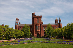 Washington DC: Smithsonian headquarters The Castle on the Mall. Photo copyright Lee Foster.  Photo # washdc102700