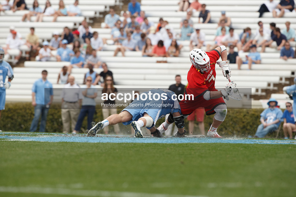 CHAPEL HILL, NC - MARCH 22: Charlie Raffa #7 of the Maryland Terrapins during a game against the North Carolina Tar Heels on March 22, 2014 at Kenan Stadium in Chapel Hill, North Carolina. North Carolina won 11-8. (Photo by Peyton Williams/Inside Lacrosse)