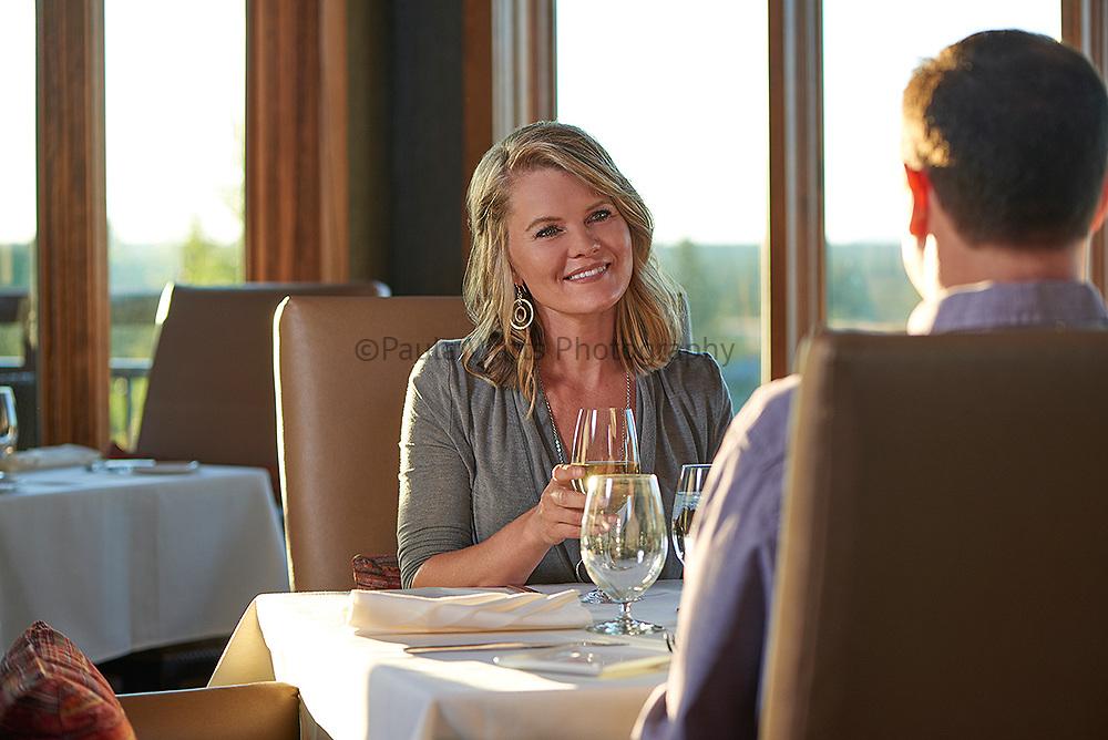 Tetherow, Restaurant, model, dinner, date, food photographer, dinner, hospitality, pr, agency, couple, wine, restaurant, view