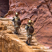 Petra is a famous archaeological site in Jordan's southwestern desert. Dating to around 300 B.C., it was the capital of the Nabatean Kingdom.