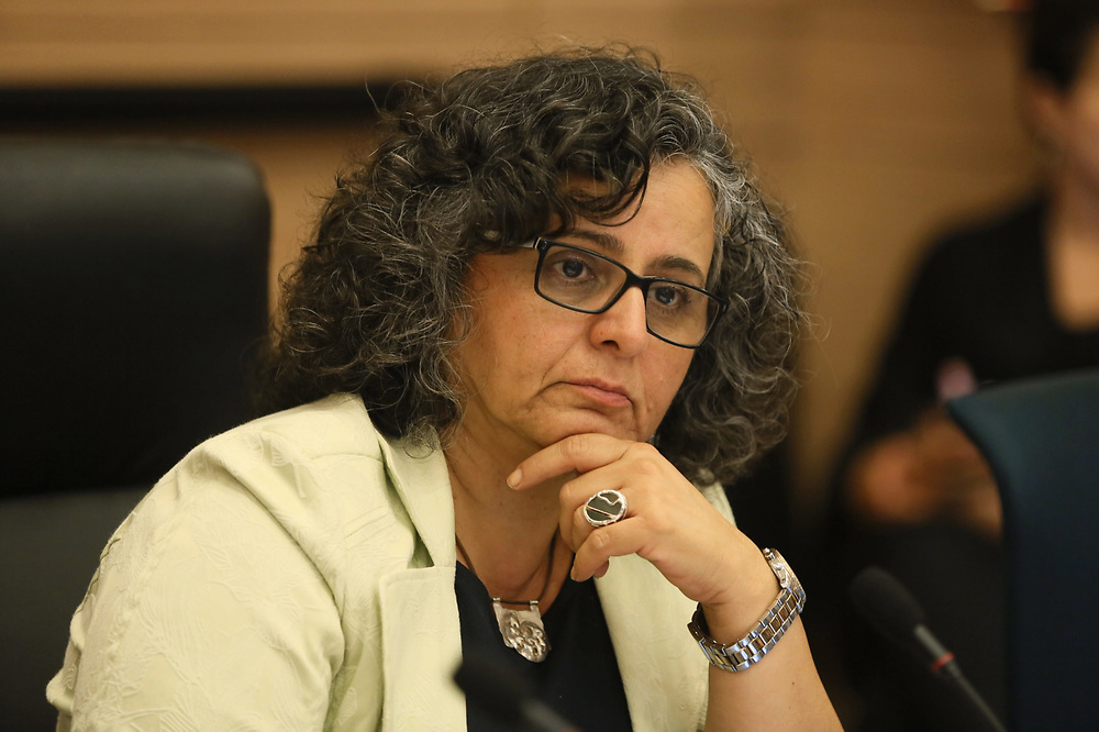 Arab-Israeli lawmaker, Member of the Knesset Aida Touma-Suleiman at the Knesset, Israel's parliament in Jerusalem, on July 28, 2015.