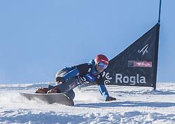 Kosir Zan during the men's Snowboard giant slalom of the FIS Snowboard World Cup 2017/18 in Rogla, Slovenia, on January 21, 2018. Photo by Urban Meglic / Sportida