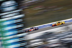 July 22, 2018 - Loudon, New Hampshire, United States of America - Denny Hamlin (11) battles for position during the Foxwoods Resort Casino 301 at New Hampshire Motor Speedway in Loudon, New Hampshire. (Credit Image: © Justin R. Noe Asp Inc/ASP via ZUMA Wire)