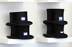 A general view of shelves stacked with top hats during day two of Royal Ascot at Ascot Racecourse. PRESS ASSOCIATION Photo. Picture date: Wednesday June 21, 2017. See PA story RACING Ascot. Photo credit should read: John Walton/PA Wire. RESTRICTIONS: Use subject to restrictions. Editorial use only, no commercial or promotional use. No private sales