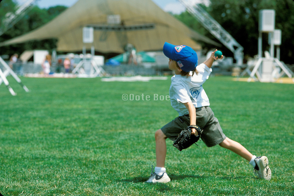 kid throwing a ball