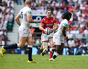 Wales' George North runs at England's Marland Yarde during the The Old Mutual Wealth Cup match England -V- Wales at Twickenham Stadium, London, Greater London, England on Sunday, May 29, 2016. (Steve Flynn/Image of Sport)