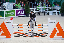 Bruce Goodin, (NZL), Centina 10 - Team & Individual Competition Jumping Speed - Alltech FEI World Equestrian Games™ 2014 - Normandy, France.<br /> © Hippo Foto Team - Leanjo De Koster<br /> 02-09-14
