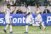 during the second half of an MLS soccer match, Saturday, March 10, 2012, in Carson, Calif. Real Salt Lake won 3-1.(AP Photo/Bret Hartman)