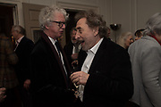 PETER STOTHARD; HOWARD JACOBSON, The launch of Fire Child by Sally Emerson. Hosted by Sally Emerson and Naim Attalah CBE. Dean St. London. 22 March 2017