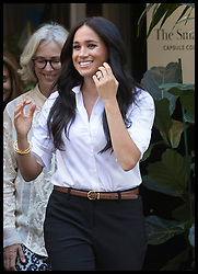 September 12, 2019, London, London, United Kingdom: Image licensed to i-Images Picture Agency. 12/09/2019. London, United Kingdom. Meghan Markle, the The Duchess of Sussex leaving the launch of the Smart Works capsule collection in London. (Credit Image: © Stephen Lock/i-Images via ZUMA Press)