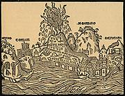 Eruption of Mount Vesuvius in 1538.