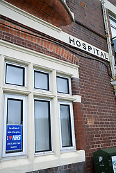 Old hospital, Dartmouth, Devon March 2019 UK