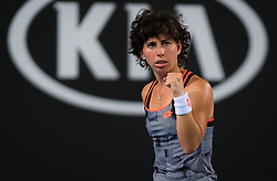 January 17, 2019 - Melbourne, AUSTRALIA - Carla Suarez Navarro of Spain in action during her second-round match at the 2019 Australian Open Grand Slam tennis tournament (Credit Image: © AFP7 via ZUMA Wire)
