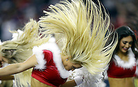 Houston Texans cheerleaders perform during the first half of an NFL football game against the Cincinnati Bengals Saturday, Dec. 24, 2016, in Houston. (AP Photo/Sam Craft)