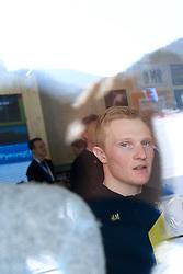February 9, 2018 - Pyeongchang, SOUTH KOREA - 180209 Jens Burman of Sweden during a press conference with the Swedish cross country skiing skiathlon team ahead of the 2018 Winter Olympics on February 9, 2018 in Pyeongchang..Photo: Carl Sandin / BILDBYRN / kod CS / 57999_278 (Credit Image: © Carl Sandin/Bildbyran via ZUMA Press)