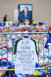 Tributes at Leicester City Football Club.