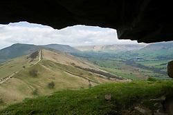 Looking back along the Great Ridge towards Mam Tor from Back Tor near Castleton in the Hope Valley <br /> <br />  19 April  2015<br />  Image © Paul David Drabble <br />  www.pauldaviddrabble.co.uk