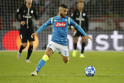 Napoli's Lorenzo Insigne during the Group stage of the Champion's League, Paris-St-Germain vs Napoli in Parc des Princes, Paris, France, on October 24th, 2018. PSG and Napoli drew 2-2. Photo by Henri Szwarc/ABACAPRESS.COM