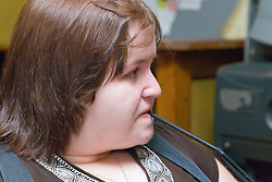 Portrait of a woman with a disability,