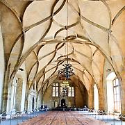 Interior of Vladislav Hall in Prague Castle