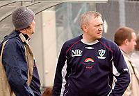 Fotball 2. div. 02.05.05, RBK 2 - Innstranden,<br /> trener for Innstranden, Roger Hansen<br /> Foto: Carl-Erik Eriksson, Digitalsport