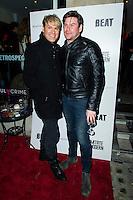 Gary Cockerill and Phil Turner, Russell Marshall: 40 - private view, Imitate Modern, LONDON, 16 January 2014, Photo by Raimondas Kazenas