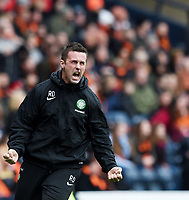 15/03/15 SCOTTISH LEAGUE CUP FINAL<br /> DUNDEE UTD v CELTIC<br /> HAMPDEN - GLASGOW<br /> Delight for Celtic manager Ronny Deila as his side take the lead