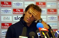 Photograph: Scott Heavey.<br />Gianfranco Zola Press Conference. Stamford Bridge. 07/07/2003.<br />Gianfranco Zola talks to the press.