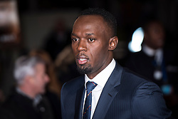 Usain Bolt arrives at the I am Bolt world premiere at the Odeon Leicester Square, London.  Picture date: Monday 28th November 2016. Photo credit should read: © DavidJensen/EMPICS Entertainment