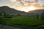 Sunrise over a fertile Valley in Morocco