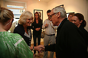 THE DUCHESS OF CORNWALL AND DENNIS HOPPER,  Norman Parkinson and Philip Treacy, an exhibition of photographs by Norman Parkinson and drawings by celebrated milliner Philip Treacy. ELEVEN Gallery. VICTORIA. LONDON. 3 July 2007.  -DO NOT ARCHIVE-© Copyright Photograph by Dafydd Jones. 248 Clapham Rd. London SW9 0PZ. Tel 0207 820 0771. www.dafjones.com.