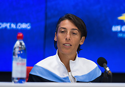 September 5, 2018 - Francesca Schiavone of Italy announces her retirement from tennis at the 2018 US Open Grand Slam tennis tournament. New York, USA. September 05, 2018. (Credit Image: © AFP7 via ZUMA Wire)