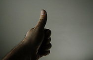 Hand gestures with ambient light