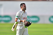 Dean Elgar of Surrey during the opening day of the Specsavers County Champ Div 1 match between Somerset County Cricket Club and Surrey County Cricket Club at the Cooper Associates County Ground, Taunton, United Kingdom on 18 September 2018.