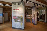 Framlingham castle, Suffolk, England, UK - information display