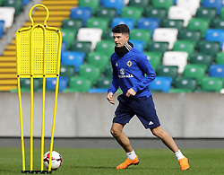 Northern Ireland's Jordan Jones during the training session at Windsor Park, Belfast.